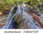 beusnita waterfall in beusnita... | Shutterstock . vector #728467147