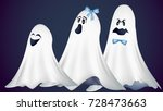 a family of cute ghosts vector... | Shutterstock .eps vector #728473663