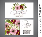 floral style business card... | Shutterstock .eps vector #728475973