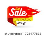 hot sale price offer deal... | Shutterstock .eps vector #728477833