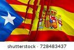 catalonia spain conflict.... | Shutterstock . vector #728483437