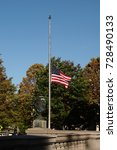 Small photo of Flag flying at half staff in respect of the victims of the Las Vegas massacre, October 2017
