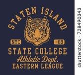 athletic sport college... | Shutterstock .eps vector #728490343