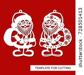 christmas decoration   santa... | Shutterstock .eps vector #728501413