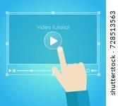 video tutorial banner. stylish... | Shutterstock .eps vector #728513563