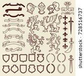 heraldic design vintage retro... | Shutterstock .eps vector #728516737