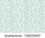 floral pattern. wallpaper... | Shutterstock .eps vector #728525047