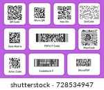 labels with barcodes. packaging ... | Shutterstock .eps vector #728534947
