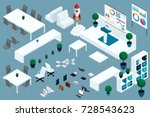 quality isometry  3d set of... | Shutterstock .eps vector #728543623