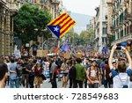 barcelona  catalunya  spain  ... | Shutterstock . vector #728549683