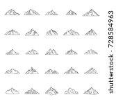 mountain outline icons set... | Shutterstock .eps vector #728584963