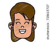 cute girl cartoon   Shutterstock .eps vector #728615737