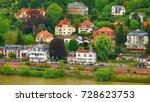green city of heidelberg ... | Shutterstock . vector #728623753