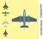 vector airplane illustration...   Shutterstock .eps vector #728624797