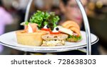 afternoon tea meat snack dish   ... | Shutterstock . vector #728638303