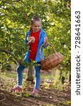 kids picking fresh fruits and... | Shutterstock . vector #728641663