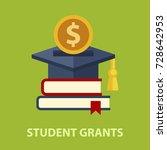 student grants flat concept.... | Shutterstock .eps vector #728642953