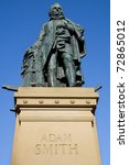 Small photo of Adam Smith (1723-90) Monument on the Royal Mile, Edinburgh, Scotland. The Enlightenment philosopher's book, Wealth of Nations, is considered a pioneering guide to economics and free market enterprise.