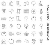 growth icons set. outline style ... | Shutterstock .eps vector #728677933