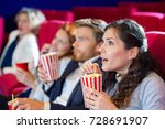 reaction of movie goers | Shutterstock . vector #728691907