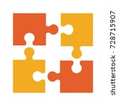 puzzle pieces separated icon... | Shutterstock .eps vector #728715907