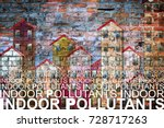 indoor air pollutants against a ... | Shutterstock . vector #728717263