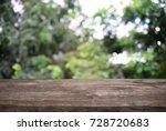 image of dark wooden table in... | Shutterstock . vector #728720683