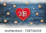 christmas background with... | Shutterstock . vector #728726233