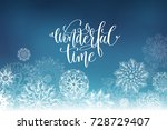 wonderful time hand lettering... | Shutterstock .eps vector #728729407