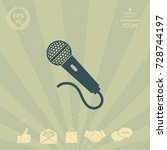 microphone icon | Shutterstock .eps vector #728744197