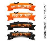 happy halloween trick or treat... | Shutterstock .eps vector #728746297