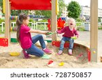 conflict on the playground. two ... | Shutterstock . vector #728750857