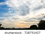 sunset sky and cloudy | Shutterstock . vector #728751427