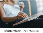 close up partial view of woman...   Shutterstock . vector #728758813