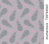 vector seamless pattern with... | Shutterstock .eps vector #728764063