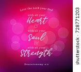 bible verse about commandments... | Shutterstock .eps vector #728771203