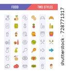 big set vector line icons meal  ...   Shutterstock .eps vector #728771317