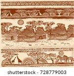 beautiful african carpet.... | Shutterstock .eps vector #728779003