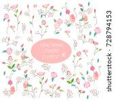 floral elements vector... | Shutterstock .eps vector #728794153