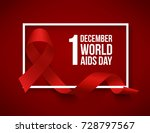 world aids day | Shutterstock . vector #728797567