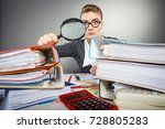 attention paperwork corporate... | Shutterstock . vector #728805283