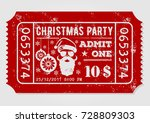 vintage christmas party... | Shutterstock .eps vector #728809303