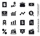 16 vector icon set   receipt ... | Shutterstock .eps vector #728810107