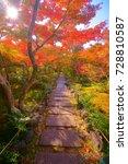 hokyoin houkyouin  temple zen... | Shutterstock . vector #728810587