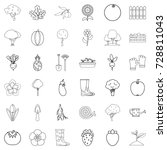 plant icons set. outline style... | Shutterstock .eps vector #728811043