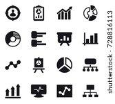 16 vector icon set   target...   Shutterstock .eps vector #728816113