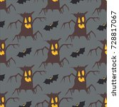 tree  pattern  vector... | Shutterstock .eps vector #728817067
