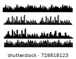 the silhouette of the city in a ... | Shutterstock .eps vector #728818123