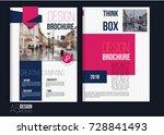 vector red brochure cover... | Shutterstock .eps vector #728841493