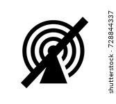 ui glyph no access hotspot | Shutterstock .eps vector #728844337